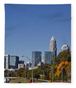 Charlotte Skyline Fleece Blanket
