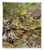 Cheakamus Rainforest Debris Fleece Blanket