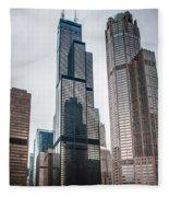 Chicago Architecture Fleece Blanket