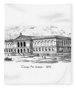 Chicago Art Institute - 1879 Fleece Blanket