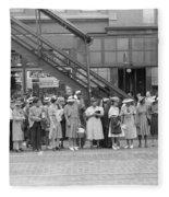 Chicago Commuters, 1940 Fleece Blanket