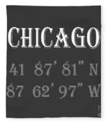 Chicago Coordinates Fleece Blanket