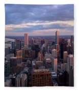 Chicago Il. Skyline, May 2009 Fleece Blanket