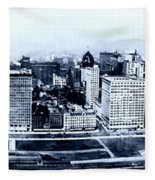 Chicago Panorama 1915 Fleece Blanket