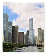 Chicago Panorama Fleece Blanket