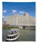Chicago River Bend Fleece Blanket