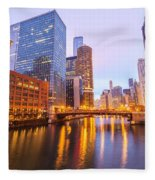 Chicago River View Fleece Blanket