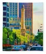 Chicago Water Tower Beacon Fleece Blanket