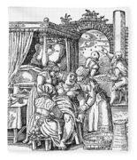 Childbirth, 1580 Fleece Blanket
