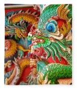 Chinese Temple Detail Fleece Blanket