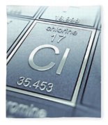 Chlorine Chemical Element Fleece Blanket
