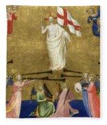 Christ Glorified In The Court Of Heaven Fleece Blanket
