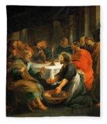 Christ Washing The Apostles' Feet Fleece Blanket