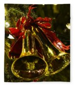 Christmas Bells Ornaments Faneuil Hall Tree Boston Fleece Blanket