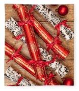 Christmas Crackers Fleece Blanket