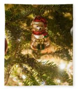 Christmas Tree Ornaments Fleece Blanket