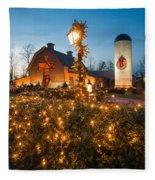 Christmas Village Decorations Fleece Blanket