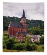 Church Of Our Lady  Oberwesel Am Rhein Fleece Blanket