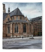 Church Of St Lawrence In Rotterdam Fleece Blanket