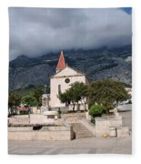 Church Of St.mark Makarska Fleece Blanket