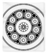 Circle Motif 138 Fleece Blanket