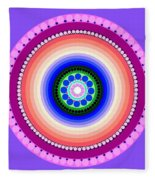 Circle Motif 224 Fleece Blanket