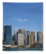 Circular Quay In Central Sydney Australia Fleece Blanket