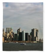 City At The Waterfront, New York City Fleece Blanket