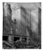 City - Chicago Il - Continuing A Legacy Fleece Blanket