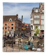 City Of Amsterdam In Netherlands Fleece Blanket