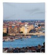 City Of Budapest At Sunset Fleece Blanket