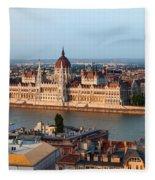 City Of Budapest Cityscape Fleece Blanket