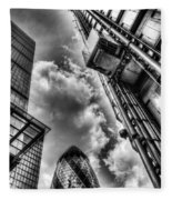 City Of London Iconic Buildings Fleece Blanket