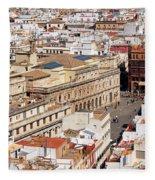 City Of Seville Cityscape In Spain Fleece Blanket