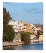 City Of Seville In Spain Fleece Blanket
