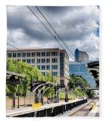 City Streets Of Charlotte North Carolina Fleece Blanket