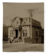 Clay And Hyde Street's San Francisco Built In 1874 Burned In The 1906 Fire Fleece Blanket