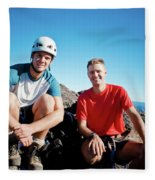 Climbing Foley Peak Fleece Blanket