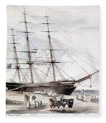 Clipper Flying Cloud, 1851 Fleece Blanket