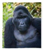 Close-up Of A Mountain Gorilla Gorilla Fleece Blanket