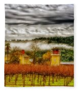 Clouds Over Napa Valley Fleece Blanket
