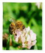 Clover Bee Fleece Blanket