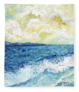 Coastal Clouds Fleece Blanket