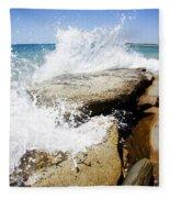 Coastal Collision Fleece Blanket