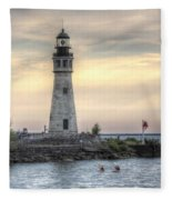 Coastguard Lighthouse Fleece Blanket