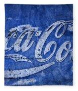 Coca Cola Blues Fleece Blanket