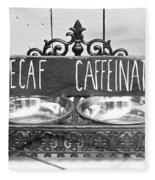 Coffee Bean Holder Fleece Blanket