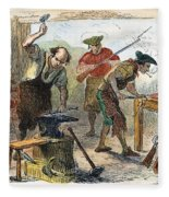 Colonial Blacksmith, 1776 Fleece Blanket