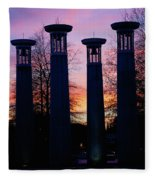 Colonnade In A Park At Sunset, 95 Bell Fleece Blanket
