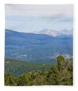 Colorado Continental Divide 5 Part Panorama 5 Fleece Blanket